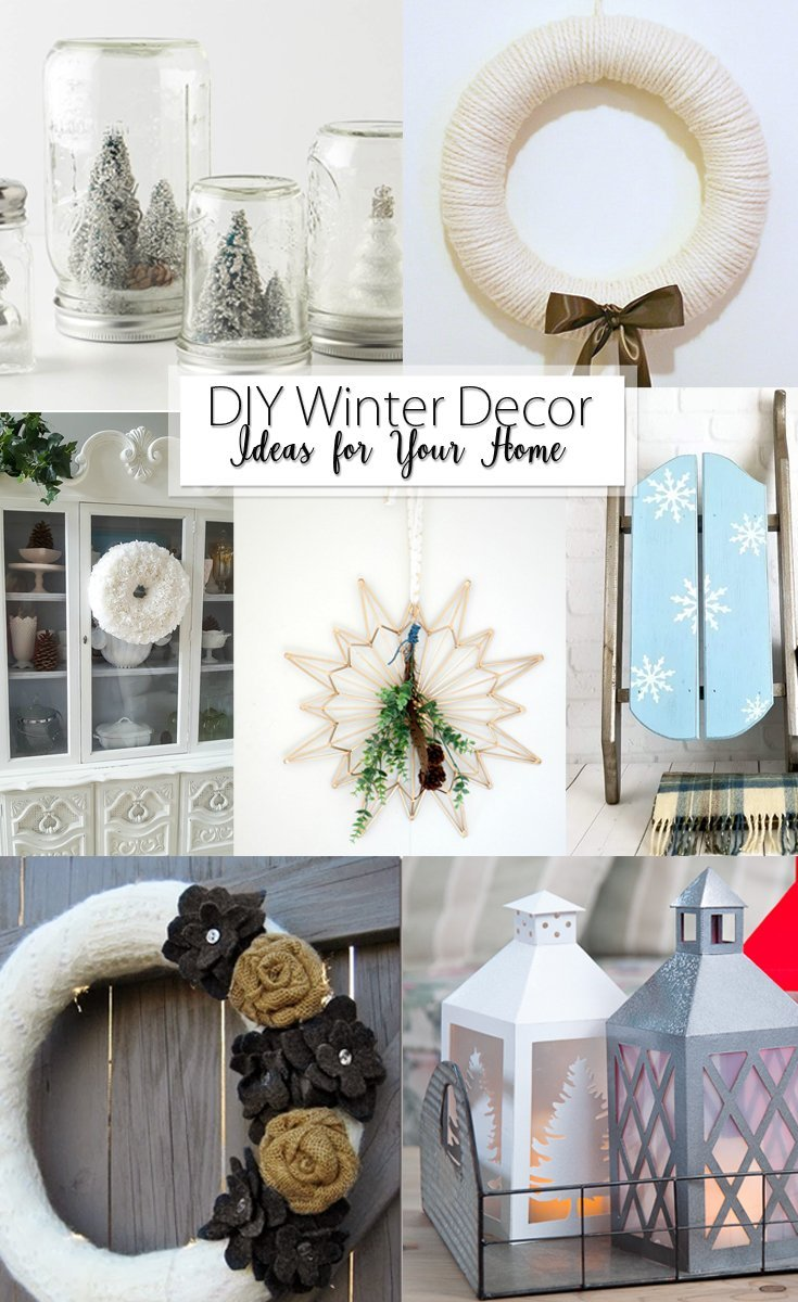 DIY Winter Decor Ideas for your Home Pinterest Image