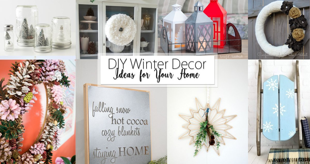 DIY Winter Decor Ideas for your Home Social Media Image