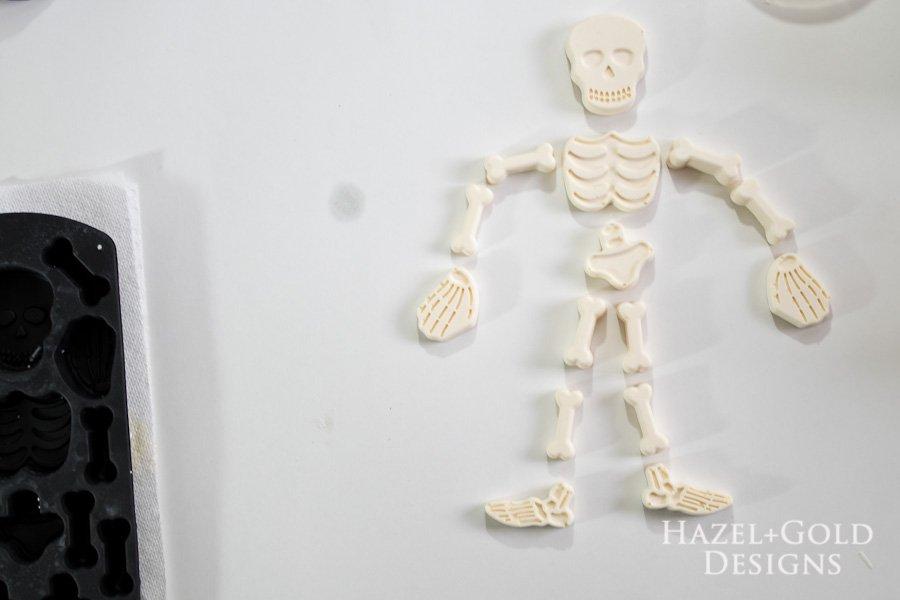 DIY Resin Framed Skeleton Halloween Decor - Remove from mold