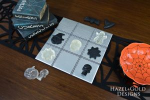 DIY Halloween Tic-Tac-Toe Game