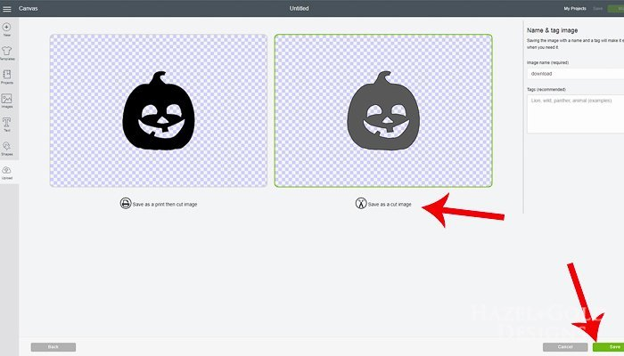 Halloween Shaped Window Clings - click Save as CUT image then label and save