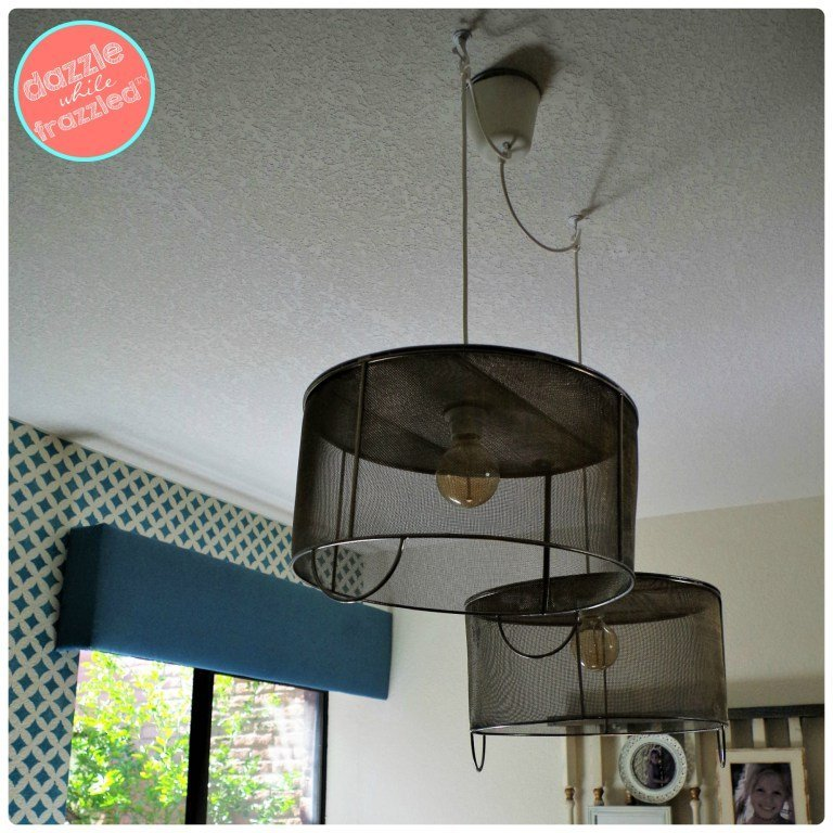 Metal-Baskets-DIY-Hanging-Light-Fixtures-12 by dazzle while frazzled