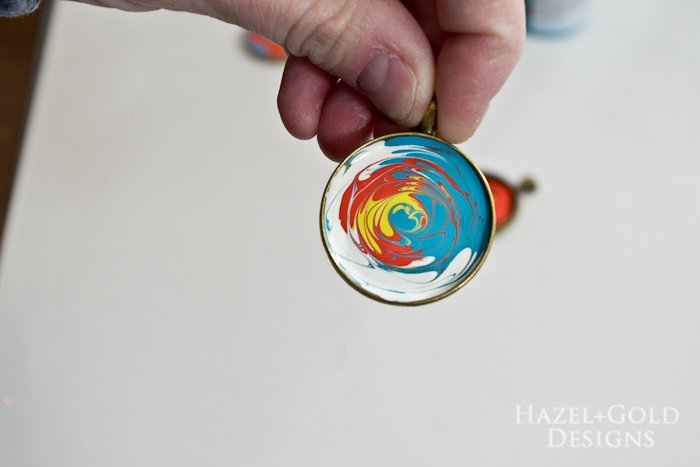 Paint and Resin Necklaces- swirl design