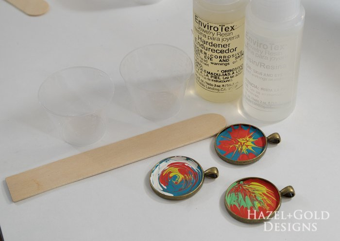 Paint and Resin Necklaces- resin jewelry kit supplies