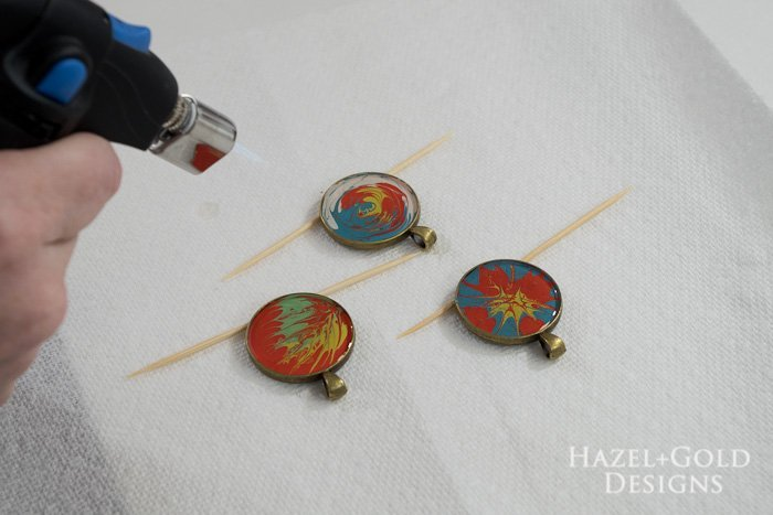 Paint and Resin Necklaces- pop bubbles with micro butane torch