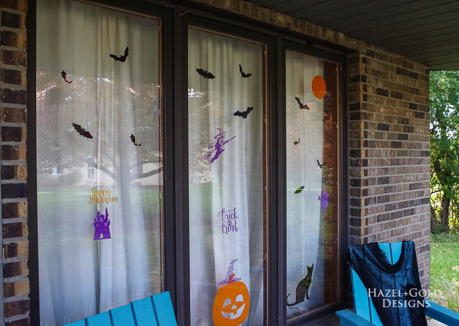 halloween shaped window clings - finished closeup