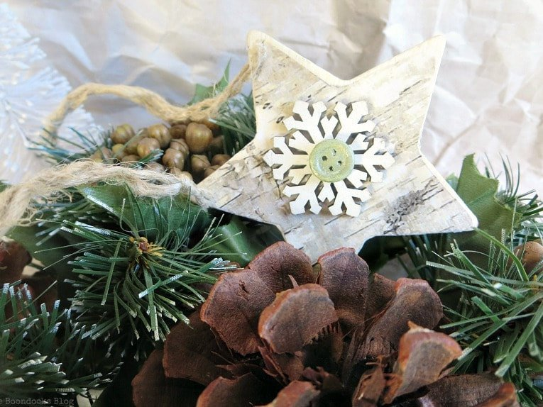 rustic star christmas ornament by the boondocks blog