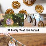 DIY Wood Slice Garland Pinterest image