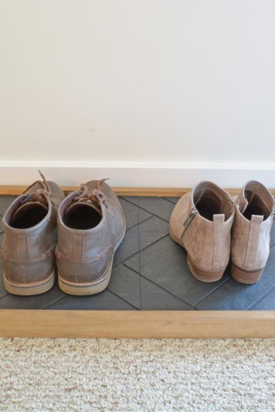 DIY Entryway Shoe Tray