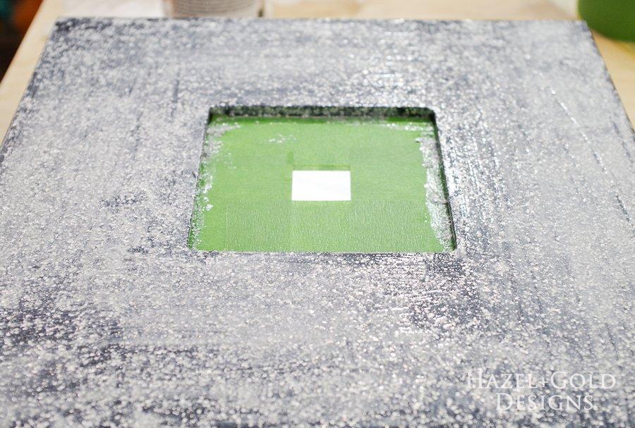 Glitter ModPodge Mirror Frame_- apply second coat