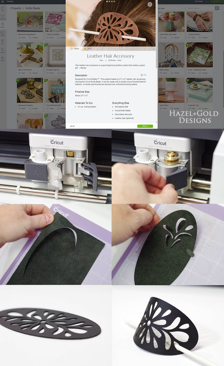Cricut Ready to Make Project - collage for hairclip cutout