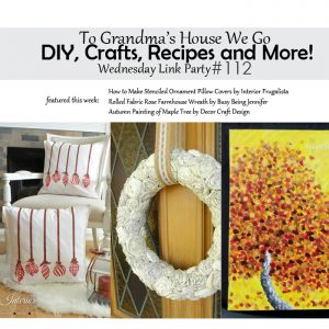 DIY, Crafts, Recipes and More Wednesday Link Party #112