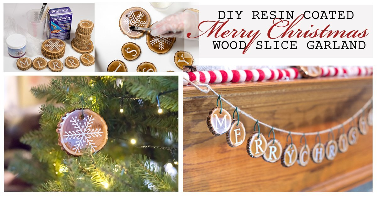 Holiday Wood Slice Garland