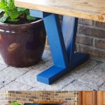 Easy DIY Wooden Outdoor Bench Pinterest Image