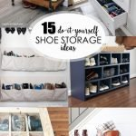 15 DIY Shoe Storage Ideas pinterest image