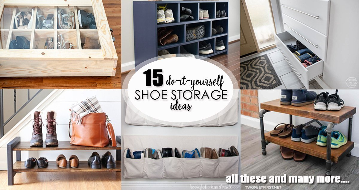 DIY Shoe Storage Ideas social media image