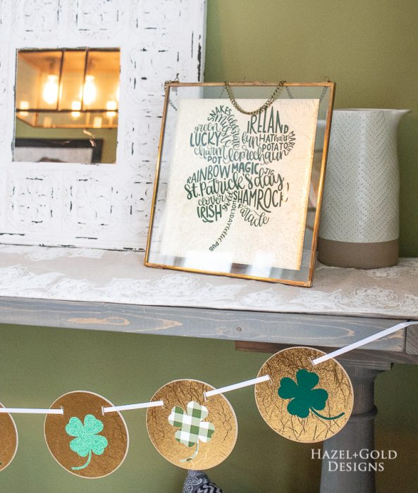 St. Patricks Day Home Decor using Cricut Maker - pinterest image