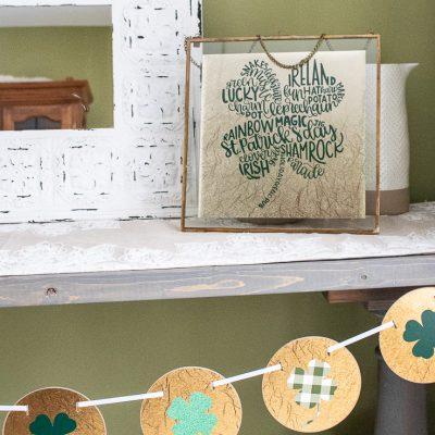 St Patricks Day Home Decor using Cricut Maker2