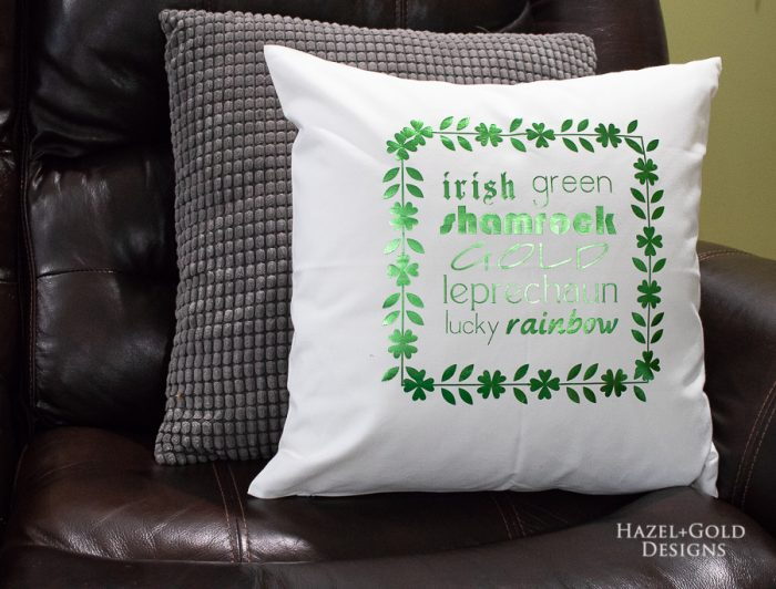 St Patricks Day Pillow -finished photo2