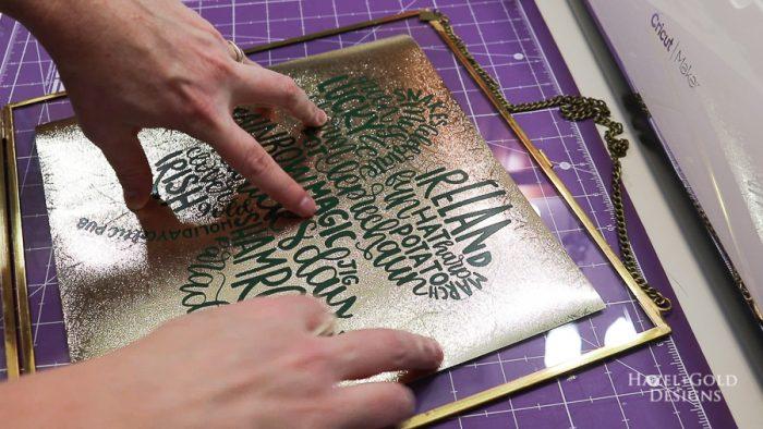 St Patricks Day Art using Cricut Maker - Place into frame
