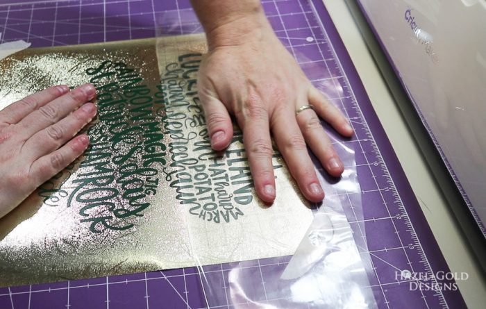 St Patricks Day Art using Cricut Maker - remove transfer tape