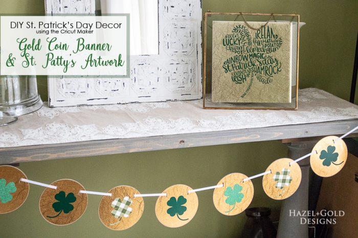 St Patricks Day Art using Cricut Maker - pinterest image