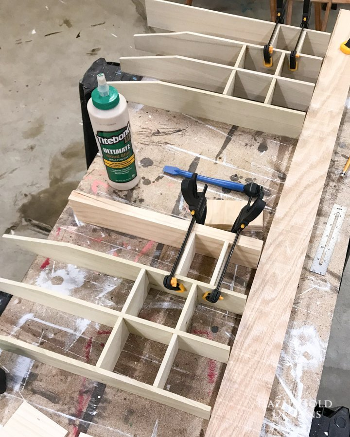 Add outer pieces - DIY Bathroom Drawer Organizer