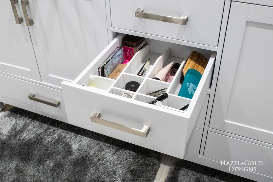 DIY Bathroom Drawer Organizer right side