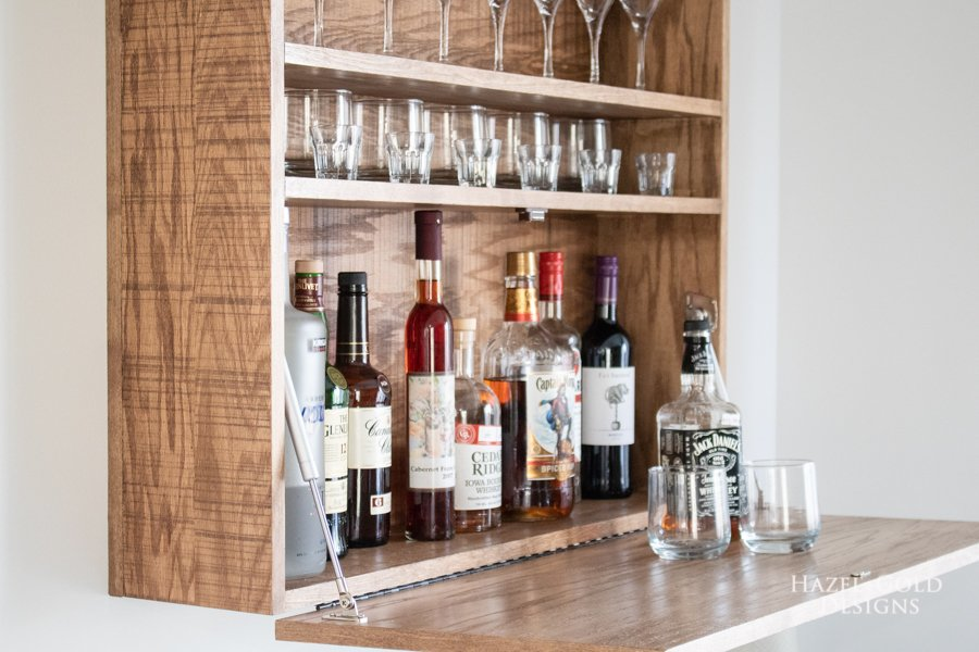 How To Make A Diy Wall Mounted Bar Cabinet Hazel Gold