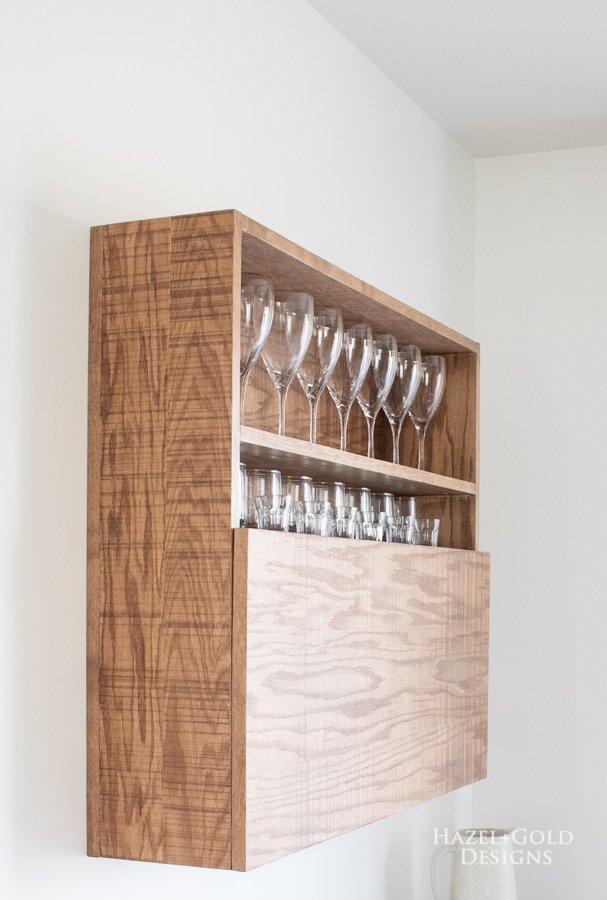 DIY Wall Mounted Bar Cabinet - (3)
