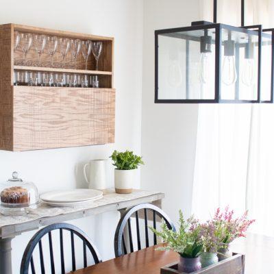 DIY Wall Mounted Bar Cabinet - (4)