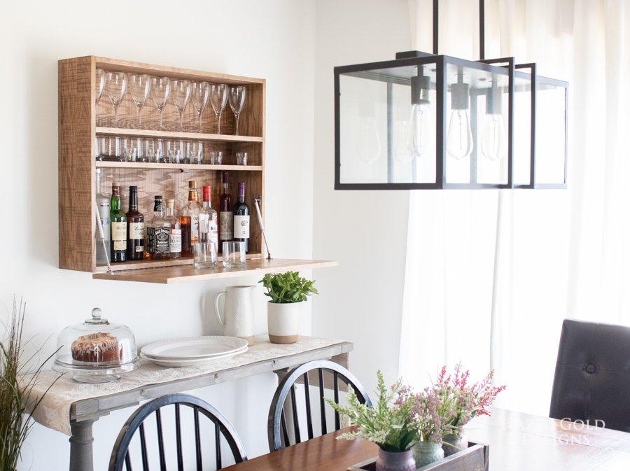 DIY Wall Mounted Bar Cabinet - (5)
