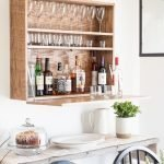 DIY Wall Mounted Bar Cabinet - (6)