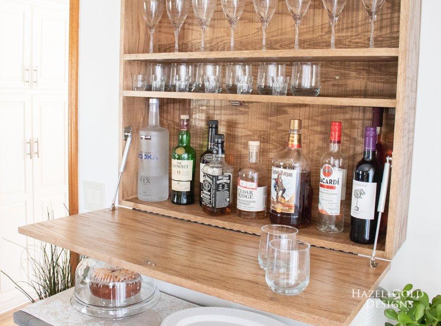 DIY Wall Mounted Bar Cabinet - (8)