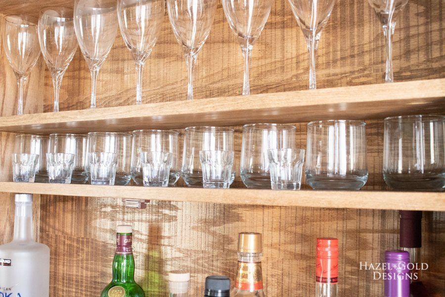 DIY Wall Mounted Bar Cabinet - (9)