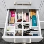 Finished DIY Bathroom Drawer Organizer front vertical