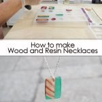 How to make wood and resin necklaces pinterest image