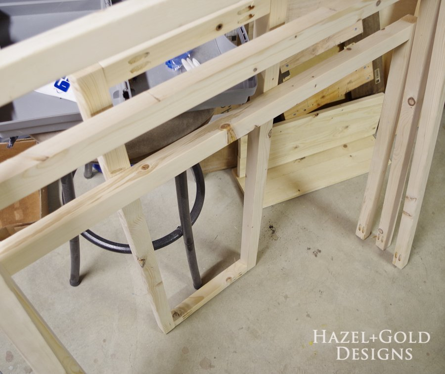 Mobile DIY Towel Rack - build top sections of racks