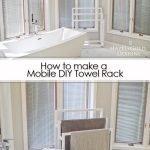 Mobile DIY Towel Rack - pinterest image