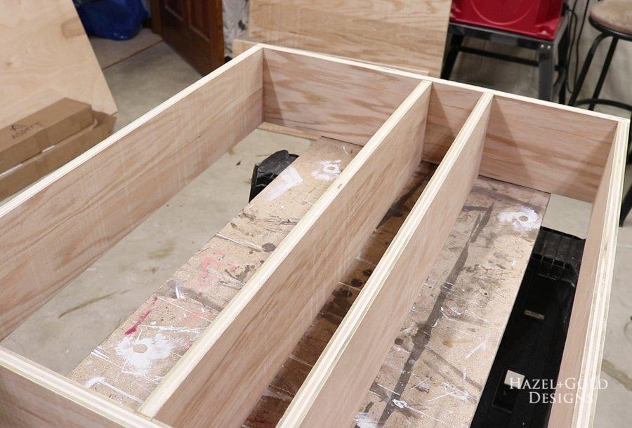 assembled carcass - DIY Wall Mounted Bar Cabinet