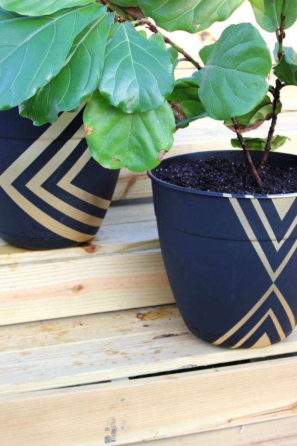 diy-modern-planters- by rain on a tin roof