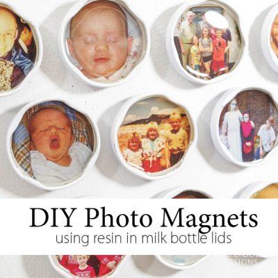 diy-photo-magnets-using-resin-in-milk-bottle-lids