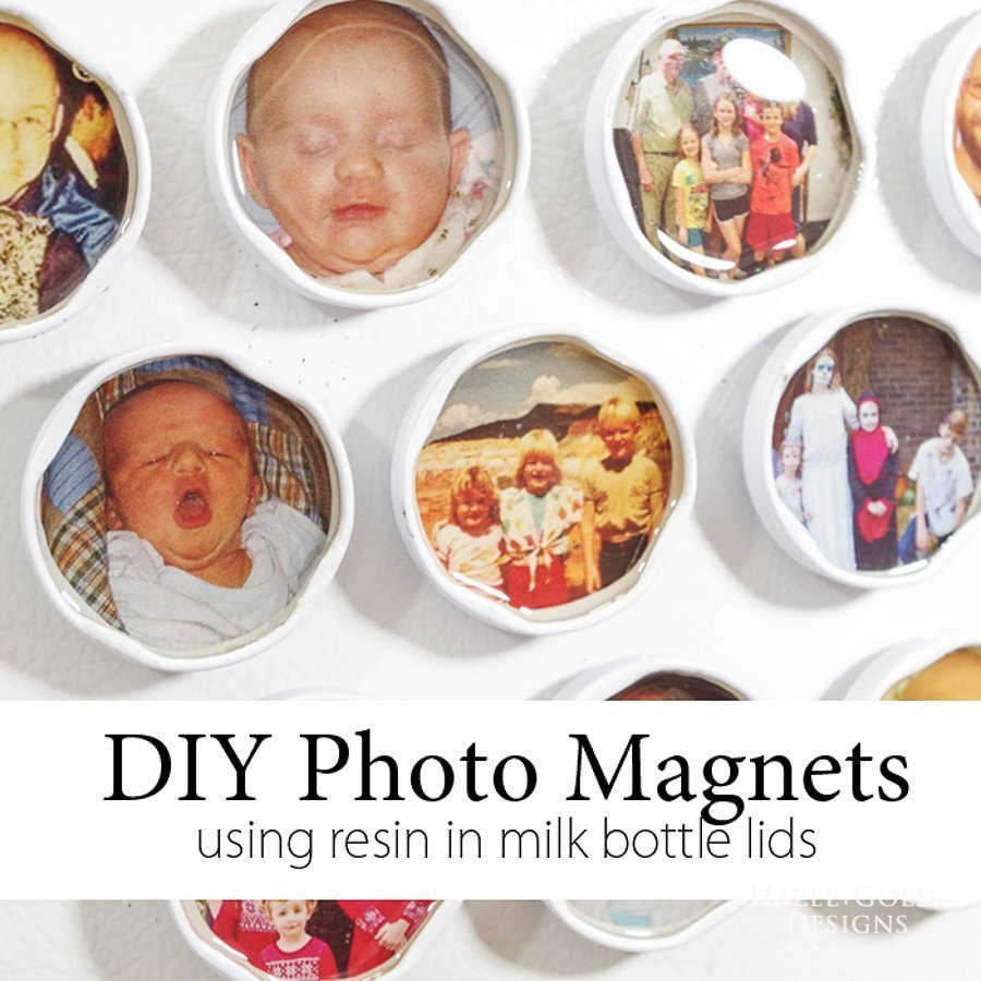 diy-photo-magnets-using-resin-in-milk-bottle-lids