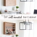 how to build a diy wall mounted bar cabinet pinterest