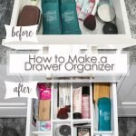 how to make a drawer organizer