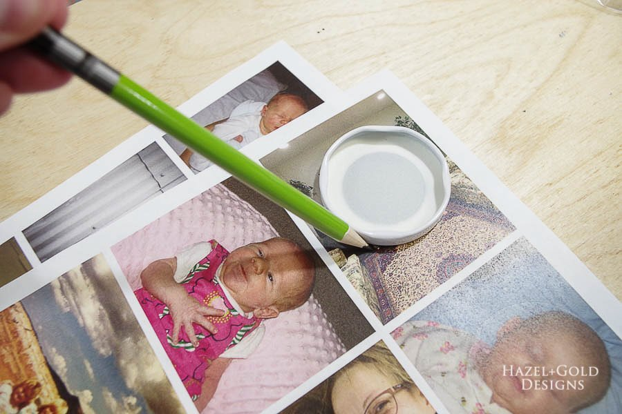 how to make photo magnets with resin - trace around the bottle lid