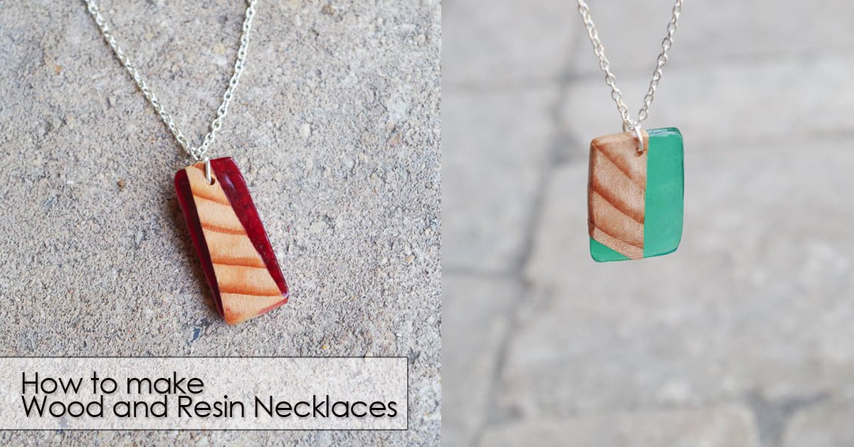 how to make wood and resin necklaces social media image