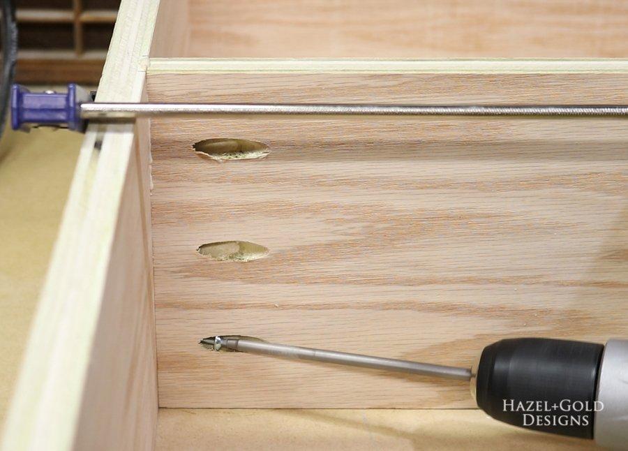 install shelves using pocket holes