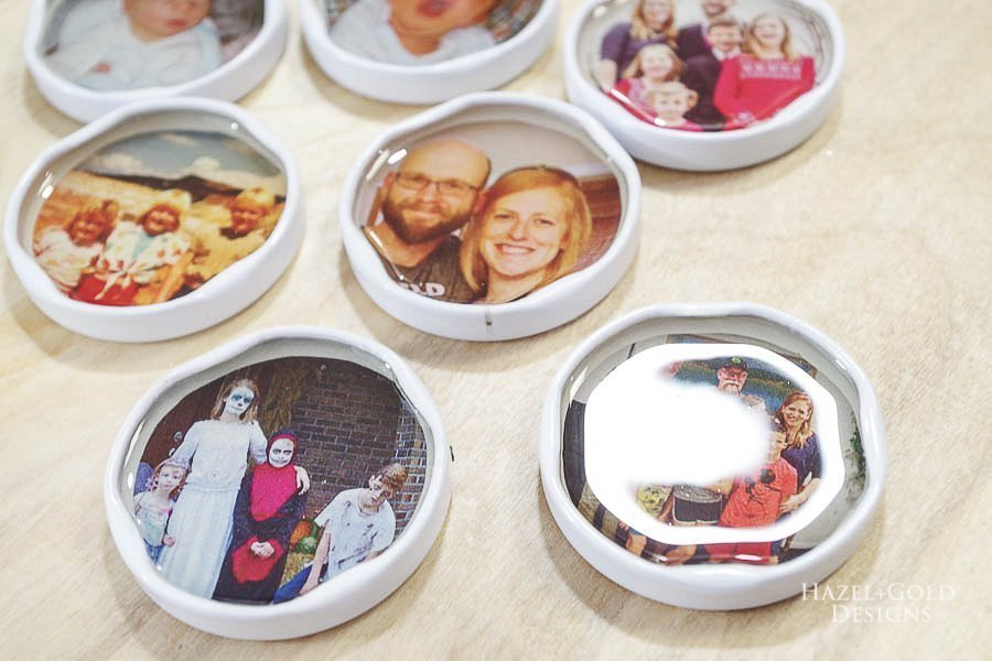 let resin cure for 24 hours - how to make photo magnets with resin