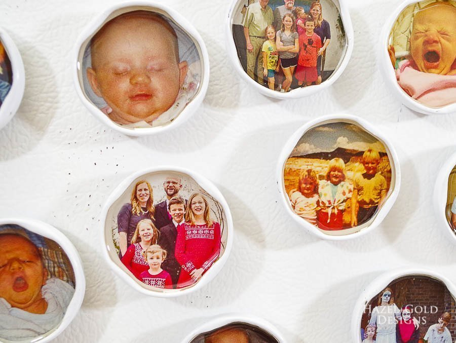 place DIY Photo magnets on your fridge to look at and use daily - how to make photo magnets with resin